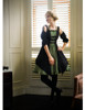 Model Show  (black jacquard cotton + sage green crepe cotton ver.)