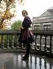 Steampunk Vintage Midi Dress Sleeveless Halter Neck Casual Summer Dress
