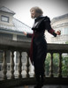Gothic Punk Jacket Joan of Arc Armor Jacquard Leather Short Vest*Black Instant Shipping