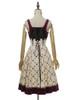 Back View (Off-White + Burgundy Ver.) (petticoat: UN00026)