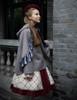 Model Show  (Off-White + Burgundy Version) blouse TP00161 tulle petticoat: UN00026 birdcage petticoat: UN00027 cape CT00282