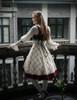 Model Show  (Off-White + Burgundy Version) blouse TP00161 tulle petticoat: UN00026 birdcage petticoat: UN00027