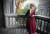 Model Show (Burgundy Ver.) (beret: P00632, blouse: TP00157, skirt: SP00184, petticoat: CT00040S)