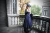 Model Show (Dark Blue Ver.) (hat: P00625, blouse: TP00157, skirt: SP00184, petticoat: CT00040S)