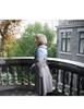 Model Show (Grey + Light Blue & Lilac Mixed Ver.) (silk dress: S03024, fur shawl: P00630, muff: P00631)