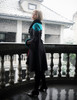 Model Show (Black + Teal Green & Orange Mixed Ver.) (silk dress: S03024, fur shawl: P00630, muff: P00631)