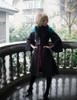 Model Show (Black + Teal Green & Orange Mixed Ver.) (silk dress: S03024, fur shawl: P00630)