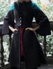 Model Show (Black + Teal Green & Orange Mixed Ver.) (silk dress underneath: S03024, fur shawl: P00630)