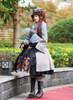 Model Show Dress DR00207, shawl P00630, muff P00631, hat P00553