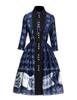Gothic Retro Shirt Dress Vintage Preppy Dandy for Women Dress