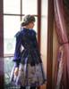 Model Show (Dark blue Version) dress DR00223, headdress P00626