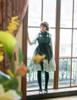 Gothic Half Length Sleeves Dress Vintage Flare Dress  Chiffon Lace Choker