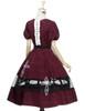 Back View (Burgundy + White Bows & Prints Ver.) (birdcage petticoat: UN00019)
