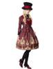 Model Show (Burgundy Ver.) (hat: P00614, jacket: CT00268, dress: DR00189, blouse: TP00125N, petticoat: UN00019)