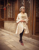 Model Show (Burgundy Ver.) (headdress: P00636, jacket: CT00286, dress: DR00229)