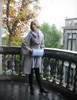 Model Show (Brown Ver.) (coat: CT00280, dress: S03024, shawl: P00630, muff: P00631)