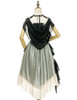Back View when cape buttoned up (Sage Green + Light Ivory Ver.) (petticoat: UN00026)
