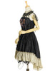 Side View when cape buttoned up (Black + Antique Golden Ver.) (petticoat: UN00026)
