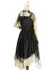 Back View when cape buttoned up on both sides (Black + Antique Golden Ver.) (petticoat: UN00026)