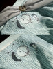 Detail View under natural sunlight (Pale Blue + Light Grey Chiffon Version)