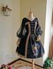 Front View w/o Shawl & Hood (Black Ver.) (birdcage petticoat: UN00019)