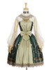 Front View (Dark Green + Gold + Light Ivory Ver.) (petticoat: UN00019)