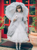 Model Show (Light Grey Ver.) (headdress: P00626, dress set underneath: DR00222, petticoat: CT00040S, UN00028, gloves: P00592, socks: AD00903)