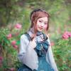 Model Show (Spirit Green + Black Ver.) (dress: DR00160N, blouse: TP00174) *beads headdress NOT for sale