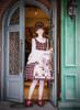 Model Show (Cherry Red Plaid + Black Fur Ver.) (dress: DR00240, blouse: TP00142N, petticoat: UN00019)
