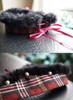 Cherry Red Plaid + Black Fur Version