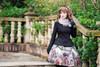 Model Show (Black Ver.) (headdress: P00636, shawl: P00630, gloves: P00581, skirt: SP00192, petticoat: UN00026)