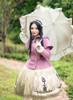 Model Show (Lilac Ver.) (headdress: P00636, cape: CT00304, dress: DR00243, petticoat: UN00026, gloves: P00572)