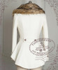Elegant Aristocrat Dandy Tuxedo Wool Coat & Detached Fine Fur