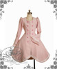 Classic Lolita Scallop Wave Thick Wool Coat&Fine Fur Bow Scarf