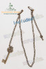 a detachable chain decoration with antique key pendants