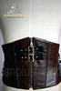 Elegant Gothic Aristocrat Steel Boned Buckles PU Leather Short Corset