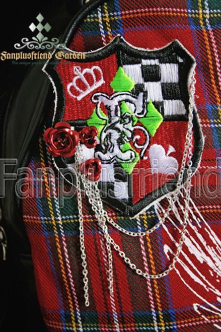 Pirate/School Lolita Metal Rose Chain Embroidery Badge Brooch