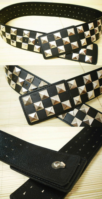 Punk Square Rivets Black Wide Waist Belt*Instant Shipping