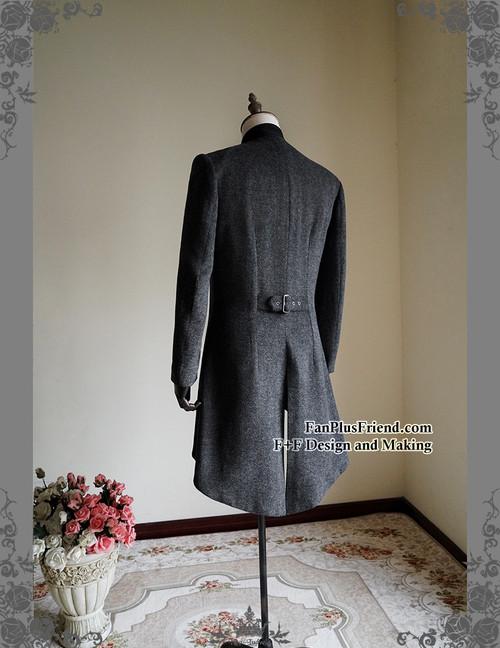 Gothic Aristocrat Victorian False 4pcs Tweed Tuxedo Jacket Long ...