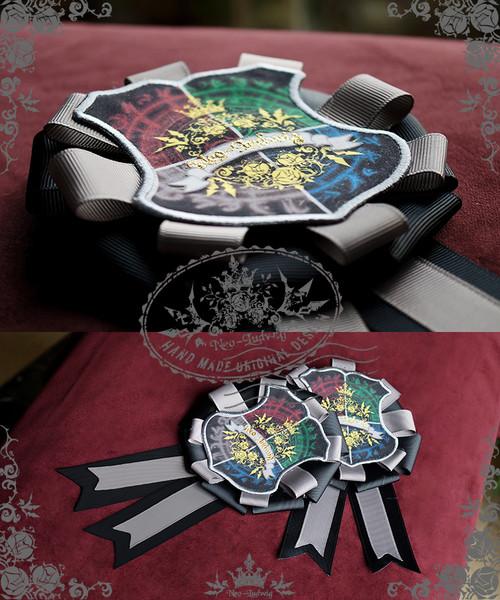 The Sacred Academy of Alexandria, Elegant Gothic Lolita Academic Scholastic Badge Pin/Brooch
