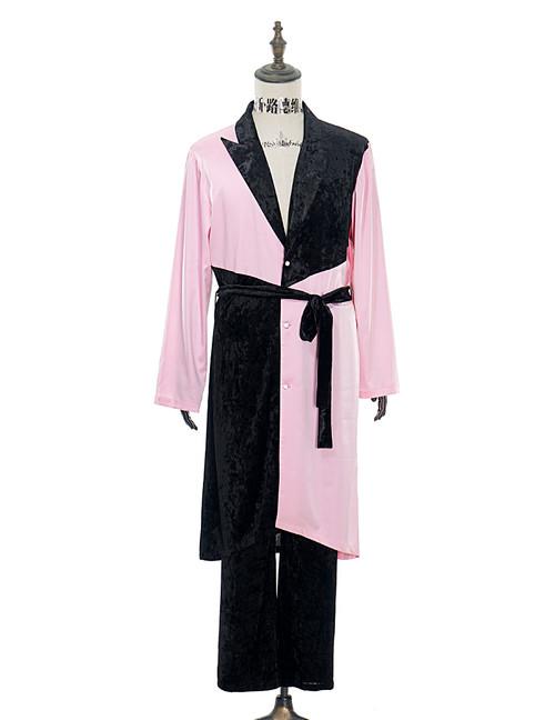Front View (Light Pink + Black Version)