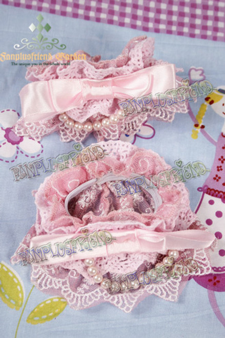 Classic Lolita Bowknot & Lace & Pearls Wristlets*4color Instant Shipping