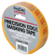 "1"" (24mm) Prodec Advance Low Tack Precision Edge Masking Tape 50mtr Roll"