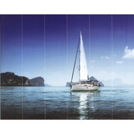 G45271 - Global Fusion Blue Yachts Galerie Wallpaper Mural