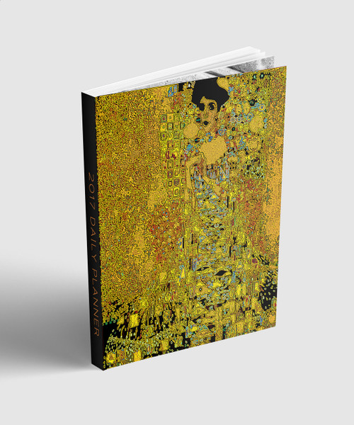 "academic  calendar 2 years planner, 6x9"", collectible Gustav Klimt  cover art by BWM collection"