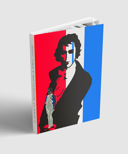 """academic year planner july 2017-2018 , collectible Louis David's , Napoleon pop art softcover, 6x9"""""""