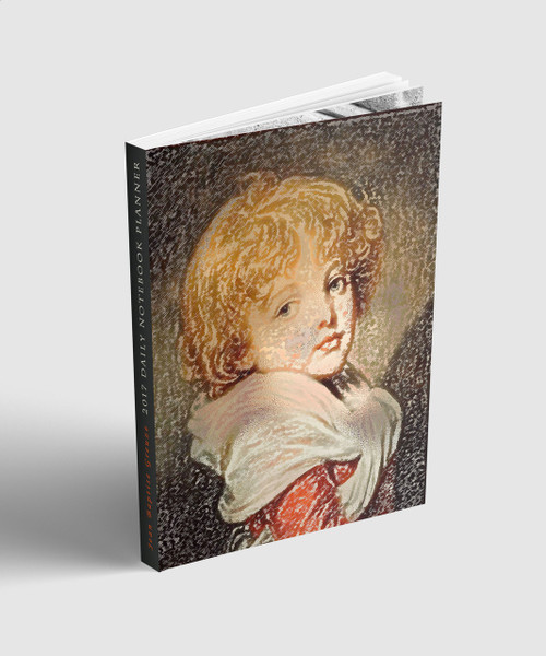 2017 Calendar year Daily Organizer/Diary. Collectible Jean Baptiste Greuze illustrated Profile and cover art. BWM collection limited edition.