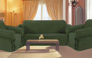 3 Pc. Slipcovers Set,Couch/Sofa+Loveseat+Chair Covers-DARK GREEN color w/Stripes