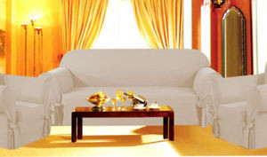 3 Pcs Slipcovers Set,Sofa+Loveseat+Chair Covers - BEIGE