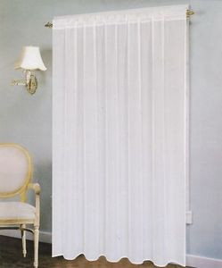 "Voile Windows Curtains / Drapes Panel 58"" x 90"" - White"